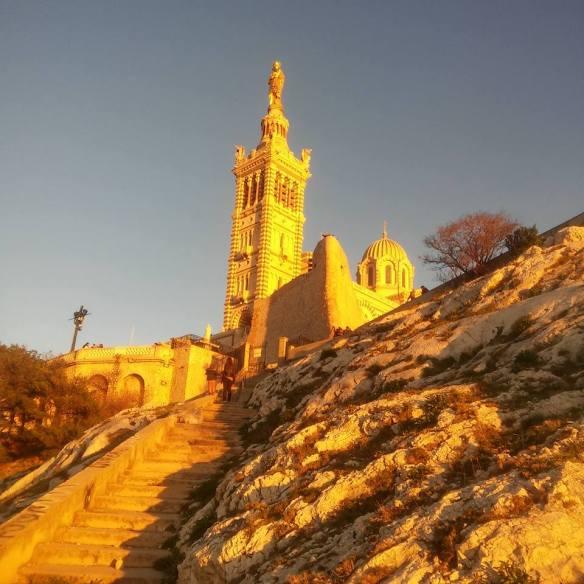 The path to Notre Dame de la Garde