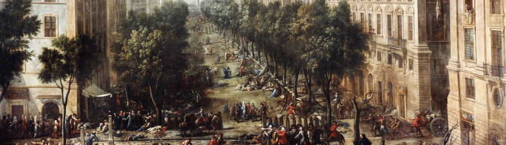 Vue du cours pendant la peste de 1720 (View of the course during the plague)