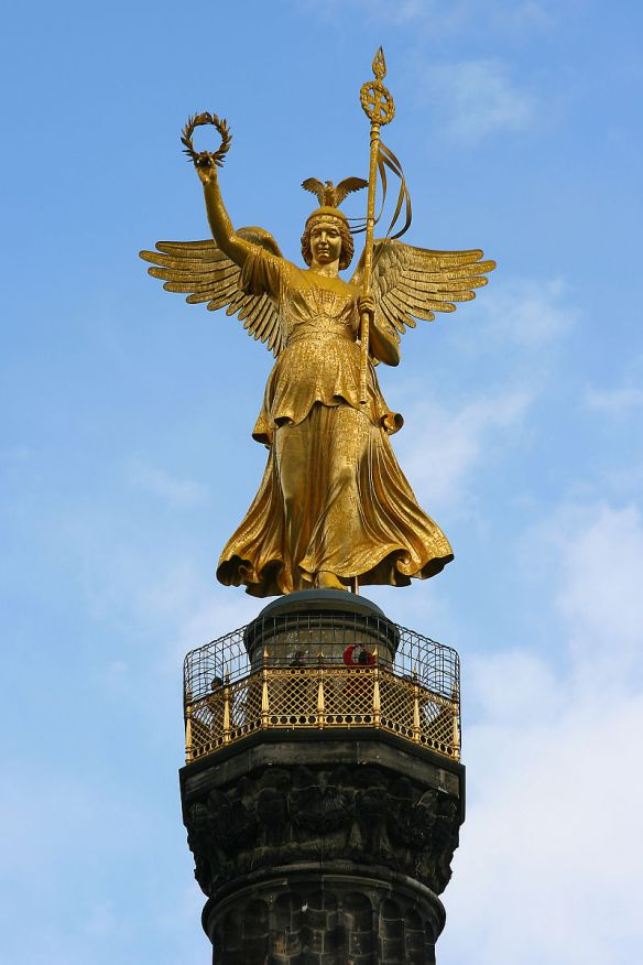 Statue of Victoria atop the Siegessäule - still facing west
