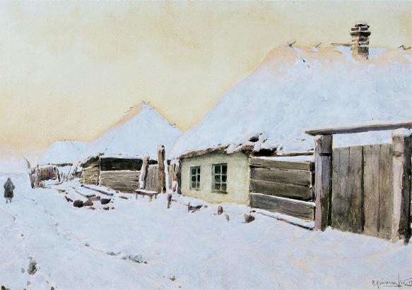 Winter Landscape by Konstantin Kryzhitsky
