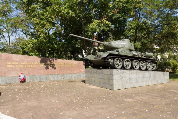 Deadly beast - Soviet T34 tank outside the German-Russian Museum