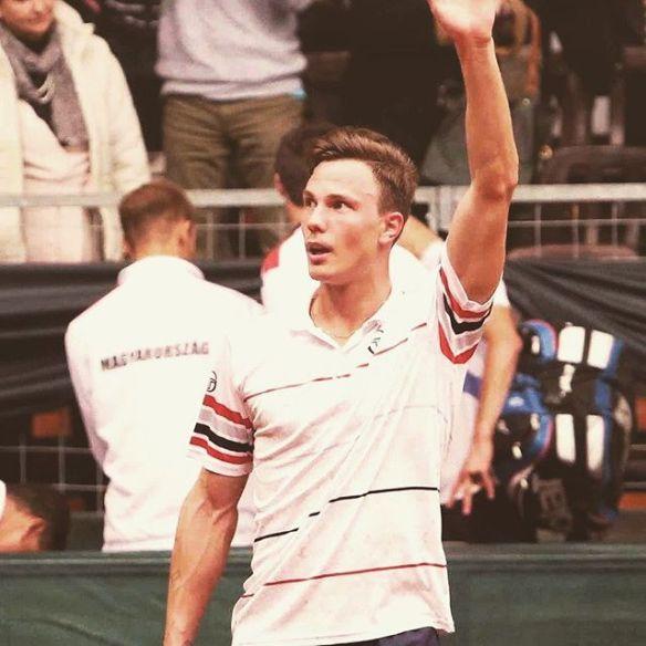 Marton Fucsovics - after a Davis Cup victory