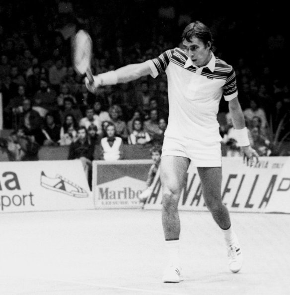 The personification of power tennis - Ivan Lendl in the 1980 Davis Cup Final
