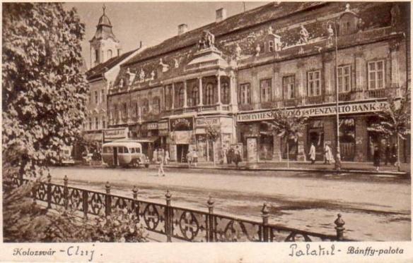 Banffy Palace - historic postcard image