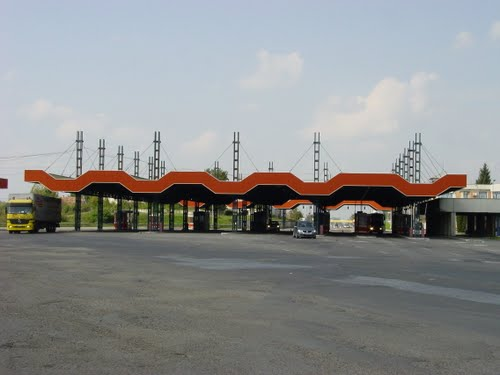 Border crossing at Bors Romania