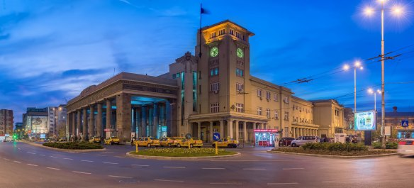 Bucharest North Railway Station - the largest in Romania