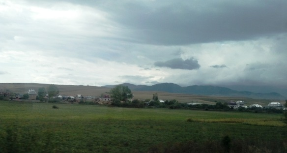 Huedin & the landscape of Cluj County as seen through a train window
