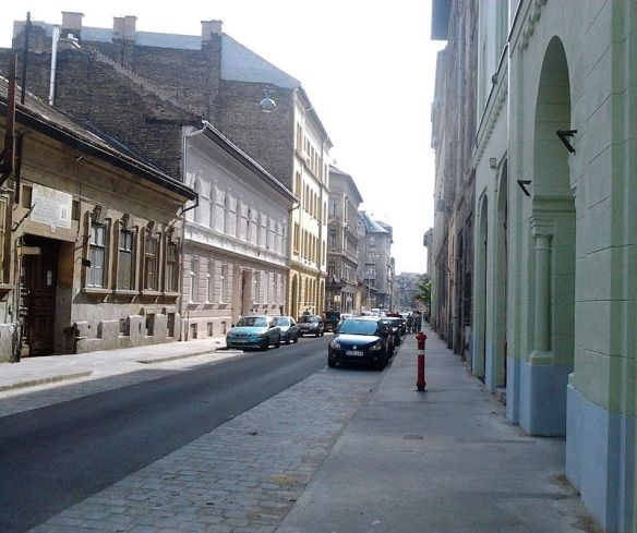 Street in the 8th District (Joszefvaros) of Budapest