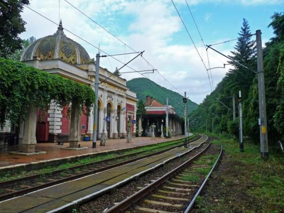 Point of arrival - Băile Herculane (Herkulefurdo) Train Station