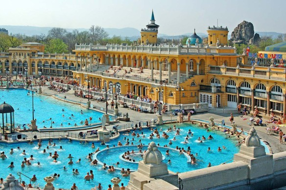 The splendor of Szechenyi Thermal Bath in Budapest