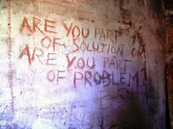 The Writing On The Wall at Banffy Castle