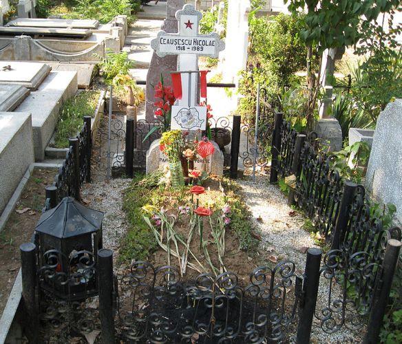 Former grave of Nicolae Ceaucescu