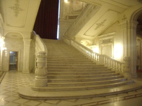 Madness in Marble - Staircase at Palace of the Parliament