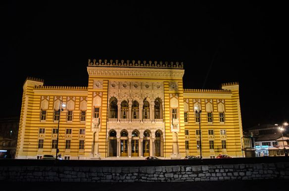 The Bosnian National & University Library - formerly the Sarajevo Town Hall