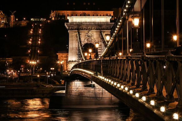 Bridging the divide - The Chain Bridge looking towards Buda
