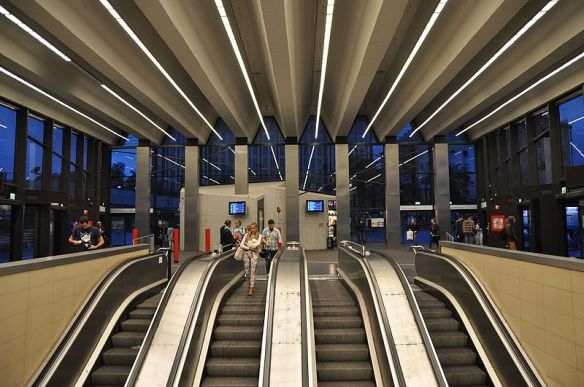 Széll Kálmán tér station - Metro 2 in Budapest
