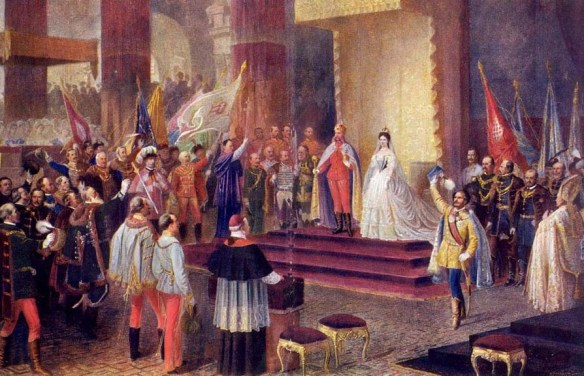 Coronation of Franz Joseph and Elisabeth as Apostolic King and Queen of Hungary