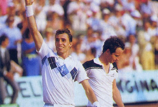 Ivan Lendl Triumphant - 1984 French Open Champion