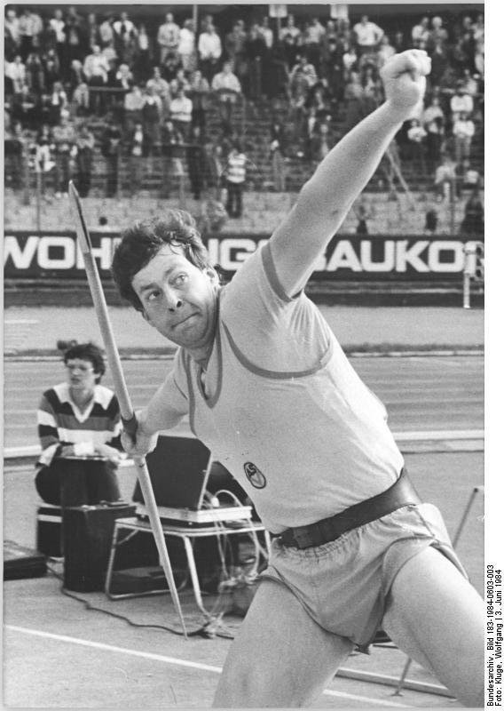 Uwe Hohn in 1984 at his peak