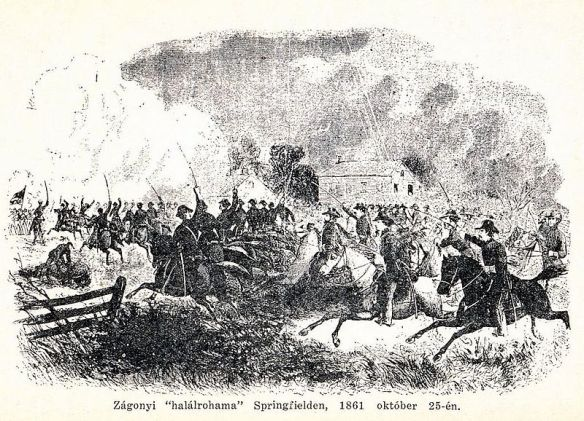 First Battle of Springfield - Zagonyi's Charge on October 25, 1861
