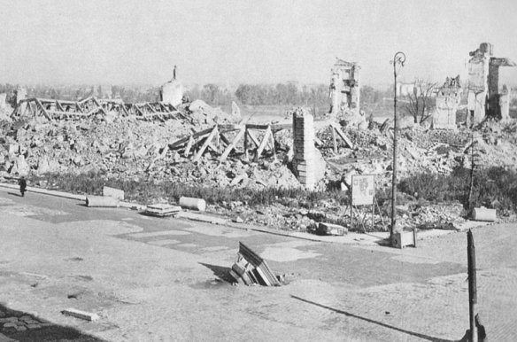 Ruins of the Royal Castle in Warsaw at the end of World War II