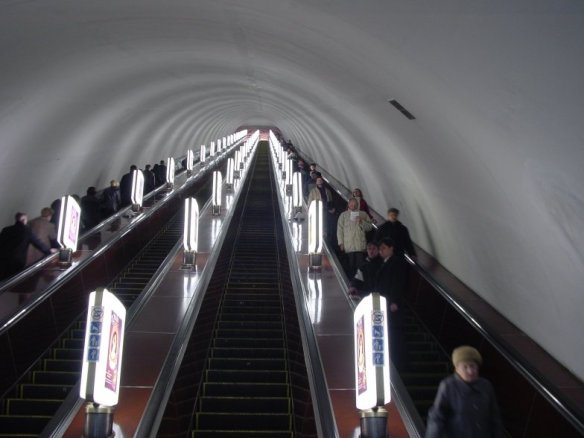 Into the Depths - Escalator to Kiev Metro