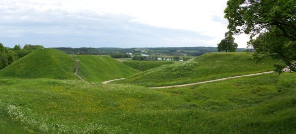 Hill fort mounds in Kernave