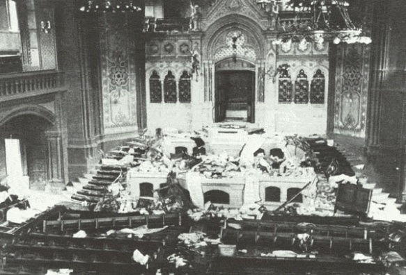 A desecreation - The Konigsberg New Synagogue after Kristallnacht