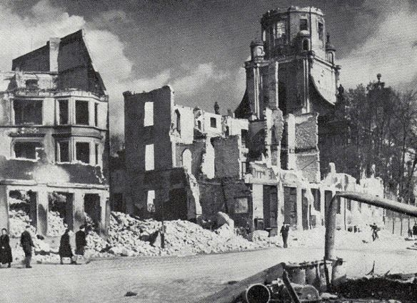 Among the ruins - Church in Konigsberg following August 1944 aerial bombings by the British