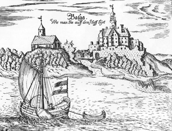 An example to all - Medieval Balaga Castle as seen from the Vistula Lagoon