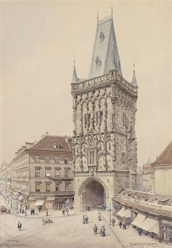 Artistic rendering of restored Powder Tower from 1911