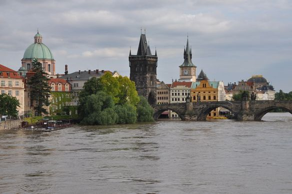 Charles Bridge & the Vltava River - In the 2013 Flood