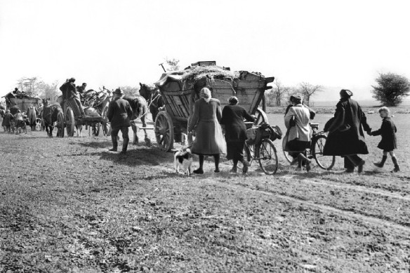 East Prussian refugees - fleeing the Red Army in 1945