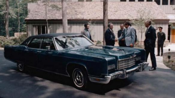 Leonid Brezhnev - receiving the keys to a 1973 Lincoln Continental from Richard Nixon at Camp David