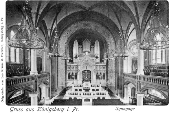 Lost World - Interior of the New Synagogue in Konigsberg