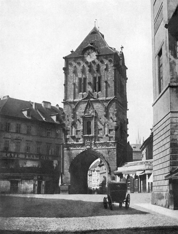 The Powder Tower - prior to restoration in 1856
