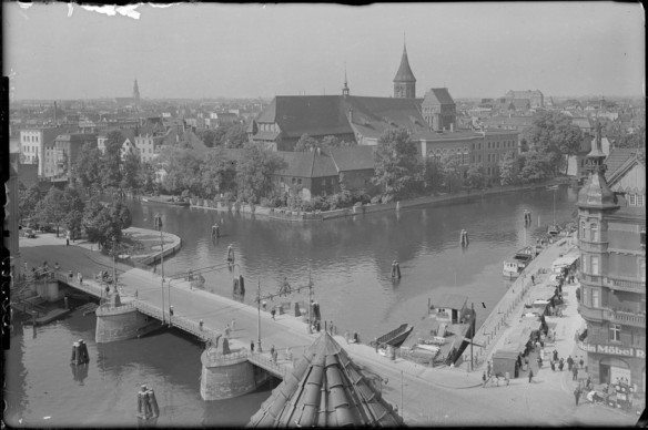 The Wooden Bridge - in 1930's Konigsberg