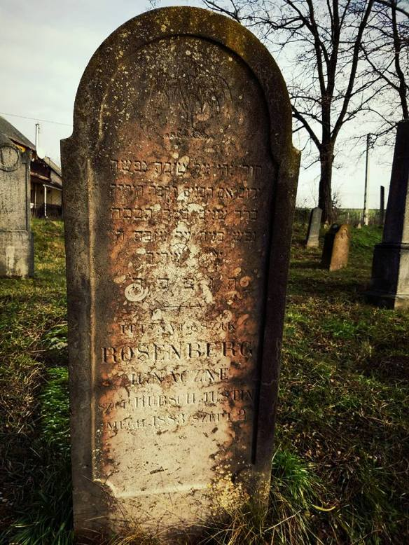 All that remains - Headstone in the Vizsoly Jewish Cemetery