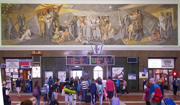 Art for the people - Mural in Bratislava Central Station