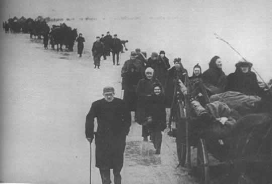 East Prussian refugees on the move