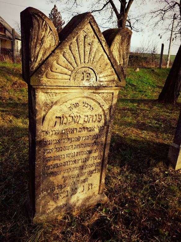 Headstone in the Jewish Cemetery of Vizsoly