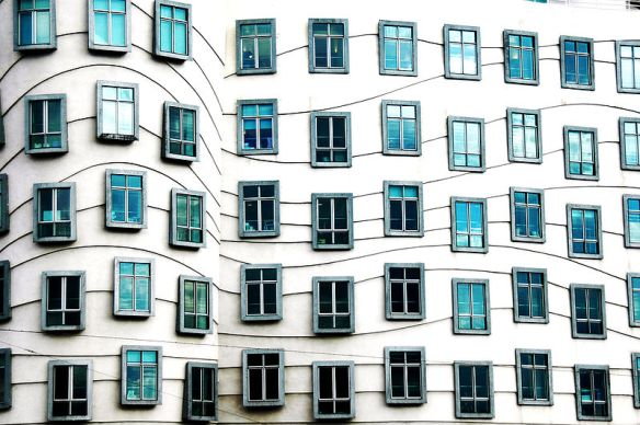 Something to look over - windows at the Dancing House