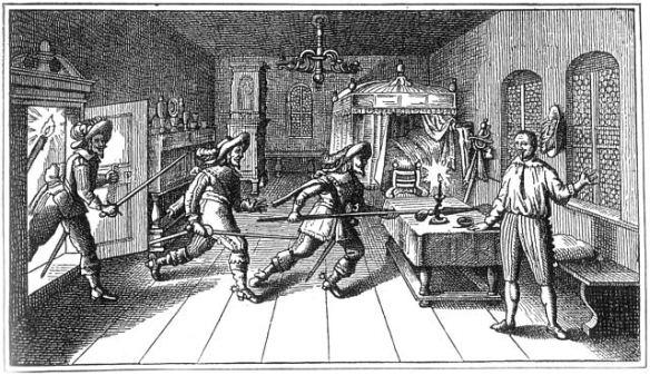 The Killing of Albrecht von Wallenstein in Eger (Cheb), Kingdom of Bohemia