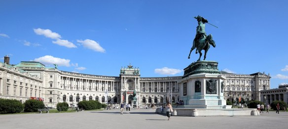 Keeping up appearances - The Hofburg as seen from Heidenplatz
