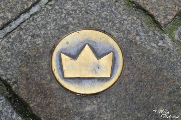 Marker on the coronation route in Bratislava