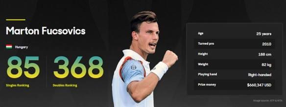 On the verge of a major breakthrough - Fucsovics ranking prior to the Australian Open