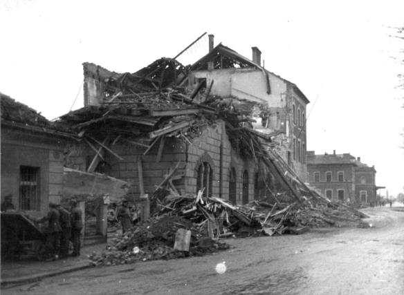 Villach Railway Station - destroyed by bombing during World War II