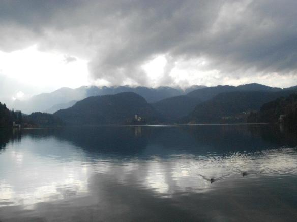 A storm waiting to explode - Lake Bled on an early spring day