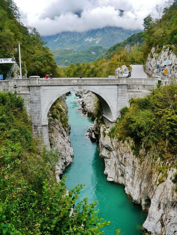 Napoleon Bridge over the Soca River - Near Kobarid