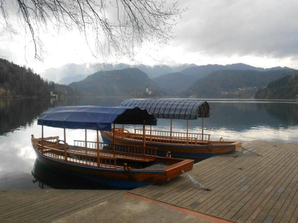 Pletnas - Awaiting summer at lake Bled